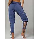 povoljno Odjeća za fitness, trčanje i jogu-Žene Aktivan / Osnovni Dnevno Harem hlače Hlače - Jednobojni Visoki struk Plava Obala Crn M L XL