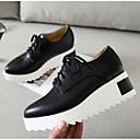 ieftine Oxfords de Damă-Pentru femei Pantofi PU Primăvară / Vară Confortabili Oxfords Creepers Vârf Închis Alb / Negru / Migdală
