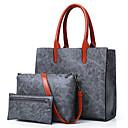 ieftine Seturi Genți-Pentru femei Genți PU Seturi de sac Set de pungi 3 buc Fermoar Roșu-aprins / Gri / Maro