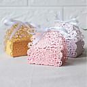 preiswerte Kuchenschachteln-Oval Perlenpapier Geschenke Halter mit Bänder Geschenk Schachteln - 50 Stück