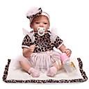 ieftine Păpuși-NPKCOLLECTION Păpuși Renăscute Bebe Fetiță 24 inch natural, Mâini aplicate manual, Artificial Implantation Blue Eyes Lui Kid Fete Cadou / Tonul natural al pielii / Floppy Head