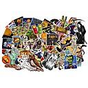 זול רכב הגוף קישוט והגנה-ziqiao 100 יח '/ חבילת קלאסי אופנה ליל כל הקדושים סגנון גרפיטי מדבקות עבור מכונית moto& מזוודה מגניב מחשב נייד מדבקות סקייטבורד מדבקה