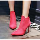 ieftine Ghete de Damă-Pentru femei Pantofi PU Toamna iarna Confortabili / Cizme la Modă Cizme Toc Stilat Cizme / Cizme la Gleznă Negru / Piersică / Migdală