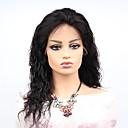 cheap Women's Heels-Remy Human Hair Lace Front Wig Brazilian Hair Wavy Wig Asymmetrical Haircut 130% Women / Easy dressing / Sexy Lady Black Women's Long Human Hair Lace Wig