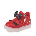 ieftine Pantofi Fetițe-Fete Pantofi PU Toamna iarna Confortabili / Cizme la Modă Adidași Plimbare LED pentru Copii Negru / Rosu / Roz / Cizme / Cizme la Gleznă