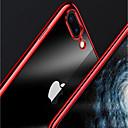 baratos Mouses-Capinha Para Apple iPhone X / iPhone 8 Plus Galvanizado / Transparente Capa traseira Sólido Macia TPU para iPhone X / iPhone 8 Plus / iPhone 8