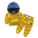 رخيصةأون أطقم ملابس الأولاد-للصبيان أساسي بنطلون - طباعة أسود / طفل صغير