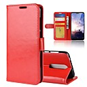 ieftine Cazuri telefon & Protectoare Ecran-Maska Pentru Nokia Nokia 7 Plus / Nokia X6 Portofel / Titluar Card / Întoarce Carcasă Telefon Mată Greu PU piele pentru Nokia 8 / 8 Sirocco / Nokia 7