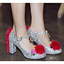 povoljno Ženske cipele bez vezica-Žene Cipele PU Proljeće / Jesen Udobne cipele Cipele na petu Kockasta potpetica Pink / Dark Blue