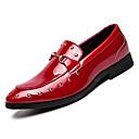 ieftine Pantofi Bărbați-Bărbați Piele de Porc Toamnă Confortabili Mocasini & Balerini Negru / Rosu
