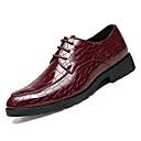 hesapli Erkek Oxfordları-Erkek Ayakkabı PU Sonbahar Oxford Modeli Parti ve Gece / Ofis ve Kariyer için Siyah / Kırmzı