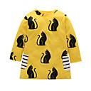 cheap Girls' Dresses-Kids / Toddler Girls' Cat Animal / Cartoon Long Sleeve Dress
