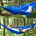 cheap Tents, Canopies & Shelters-Camping Hammock with Mosquito Net Outdoor Lightweight, Breathability Nylon for Hiking / Camping / Travel - 2 person Black / Dark Green /