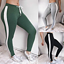 cheap Hair Braids-Women's Patchwork Yoga Pants - Black, Gray, Green Sports Color Block Skinny Pants Fitness, Gym Activewear Compression, Push Up High Elasticity