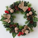 olcso Karácsonyi dekoráció-Girlandok Ünneő Fa Kör fa Karácsonyi dekoráció