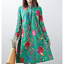 olcso Úszóruhák, búvároveráll és neoprén ruhák-Női Nadrág - Virágos Nyomtatott Lóhere / Állógallér