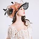 abordables Tocados de Fiesta-Mujer Volante / Malla Sombrero Playero / Sombrero Floppy / Sombrero para el sol - Vintage / Vacaciones Un Color / Floral