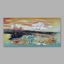 povoljno Slike za cvjetnim/biljnim motivima-Hang oslikana uljanim bojama Ručno oslikana - Sažetak Moderna Uključi Unutarnji okvir / Prošireni platno