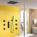 abordables Grifos de Bañera-Grifo de ducha - Moderno Pintura Sistema ducha Válvula Cerámica / Latón