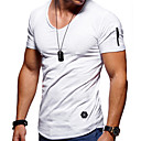 cheap Men's Bracelets-Men's Sports Plus Size Cotton Slim T-shirt - Solid Colored Round Neck Gray XXL / Short Sleeve