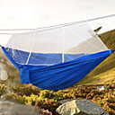 cheap Camping Furniture-Camping Hammock with Mosquito Net Double Hammock Outdoor Portable Lightweight Breathable Parachute Nylon with Carabiners and Tree Straps for 2 person Hunting Hiking Camping Blue / White Gray+Blue