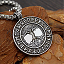 cheap Men's Slip-ons & Loafers-Men's Coin Link / Chain Pendant Necklace / Long Necklace - Tree of Life, Letter Geometric, Trendy, Fashion Cool Silver 58 cm Necklace Jewelry 1pc For Date, Street
