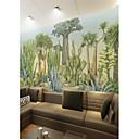 tanie Fresk-Tapeta / Mural Brezentowy Tapetowanie - klej wymagane Malarstwo / Liście drzew / / 3D