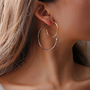cheap Kitchen Tools-Women's Hollow Hoop Earrings - Creative Simple, Korean, Fashion Gold / White For Party / Evening Daily Street