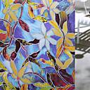 billige Veggklistremerker-Vindufilm og klistremerker Dekorasjon matte / Moderne Blomst PVC Vindusklistremerke / Matt