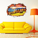 billige Veggklistremerker-Dekorative Mur Klistermærker - 3D Mur Klistremerker / Animal Wall Stickers Landskap Stue / Soverom / Baderom