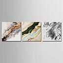 baratos Equipamentos de Proteção-Estampado Estampados de Lonas Esticada - Abstrato Moderno Modern 3 Painéis