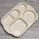 זול כלי אוכל-יחידה 1 צלחות לארוחה כלי אוכל קש חיטה יצירתי Heatproof