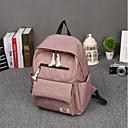 cheap Intermediate School Bags-Women's Bags Canvas School Bag Zipper Black / Blushing Pink / Gray