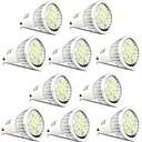 tanie Nowoczesne oświetlenie-10 szt. 5 W 400 lm GU10 Żarówki punktowe LED 16 Koraliki LED SMD 5730 Dekoracyjna Ciepła biel / Zimna biel 85-265 V