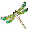 cheap Necklaces-Women's Cubic Zirconia Stylish / Tennis Chain Brooches - Creative, Dragonfly Luxury, Baroque, Fashion Brooch Green For Wedding / Daily