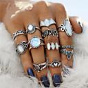 voordelige Ring-Voor Stel Ring / Nagelvingerring / Midi Ring Onyx / Opaal 12st Zilver Acryl / Legering Geometrische vorm Dames / Bohémien / Punk Feest / Halloween / Lahja Kostuum juwelen