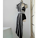 preiswerte Anime-Kostüme-Tanzkostüme Exotische Tanzbekleidung / Strass Bodysuit Damen Leistung Elasthan Kombination / Kristalle / Strass Ärmellos Normal Kleid