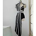 cheap Dance Costumes-Dance Costumes Exotic Dancewear / Rhinestone Bodysuit Women's Performance Spandex Split Joint / Crystals / Rhinestones Sleeveless Natural Dress
