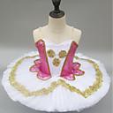 baratos Sapatilhas de Balé-Balé Vestidos Para Meninas Espetáculo Elastano Franzido Sem Manga Tutus