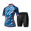 cheap Cycling Jersey & Shorts / Pants Sets-Mysenlan Women's Short Sleeve Cycling Jersey with Shorts Bike Clothing Suit, Breathable, 3D Pad, Quick Dry Polyester, Spandex Stripe