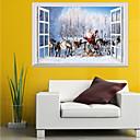 billige Veggklistremerker-Dekorative Mur Klistermærker - 3D Mur Klistremerker / Folk Wall Stickers Jul / Blomstret / Botanisk Barnerom