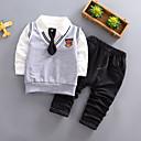 ieftine Baby Boys' One-Piece-Bebelus Băieți Casual Mată Manșon Lung Bumbac Set Îmbrăcăminte / Copil