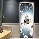 billige Ringputer-Dørklistremerker - 3D Mur Klistremerker Abstrakt / Fotball Stue / Soverom