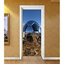 Χαμηλού Κόστους Μπρελόκ-Αυτοκόλλητα πόρτας - 3D Αυτοκόλλητα Τοίχου Αφηρημένο / Ποδόσφαιρο Σαλόνι / Υπνοδωμάτιο