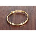 זול שרשרת אופנתית-בגדי ריקוד נשים קלאסי צמידים - ציפוי זהב 18 קאראט יצירתי פשוט, בסיסי, אופנתי צמידים זהב עבור יומי פגישה (דייט)