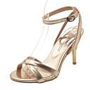 baratos Sapatos de Salto-Mulheres Couro Ecológico Primavera Conforto Sandálias Salto Agulha Prata / Amarelo / Vermelho