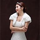 זול עליוניות לחתונה-שרוולים קצרים דמוי פרווה חתונה / מסיבה\אירוע ערב כיסויי גוף לנשים עם שכבות בולרו