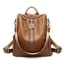 cheap Backpacks-Women's Bags PU(Polyurethane) Backpack Zipper Brown / Black