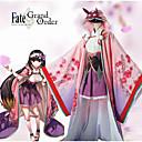 abordables Disfraces de Anime-Inspirado por Destino / Grand Order Osakabehime Animé Disfraces de cosplay Trajes Cosplay Estampado Floral Blusa / Espinilleras / Para la Cabeza Para Mujer