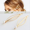 preiswerte Perlenketten-Make-up Fasergemisch Clips Dekorationen / Clips Damen / Praktisch 6 pcs Freizeitskleidung Kopfbedeckungen / Schmuck Golden